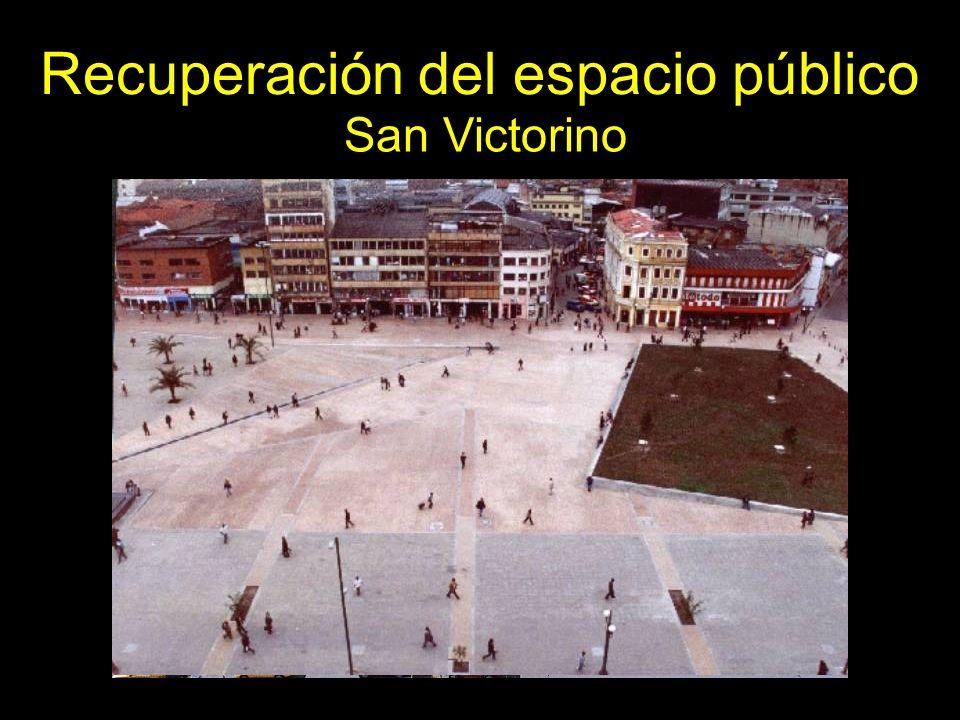 San Victorino Recuperación del espacio público
