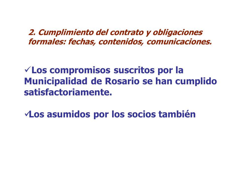 2. Cumplimiento del contrato y obligaciones formales: fechas, contenidos, comunicaciones.