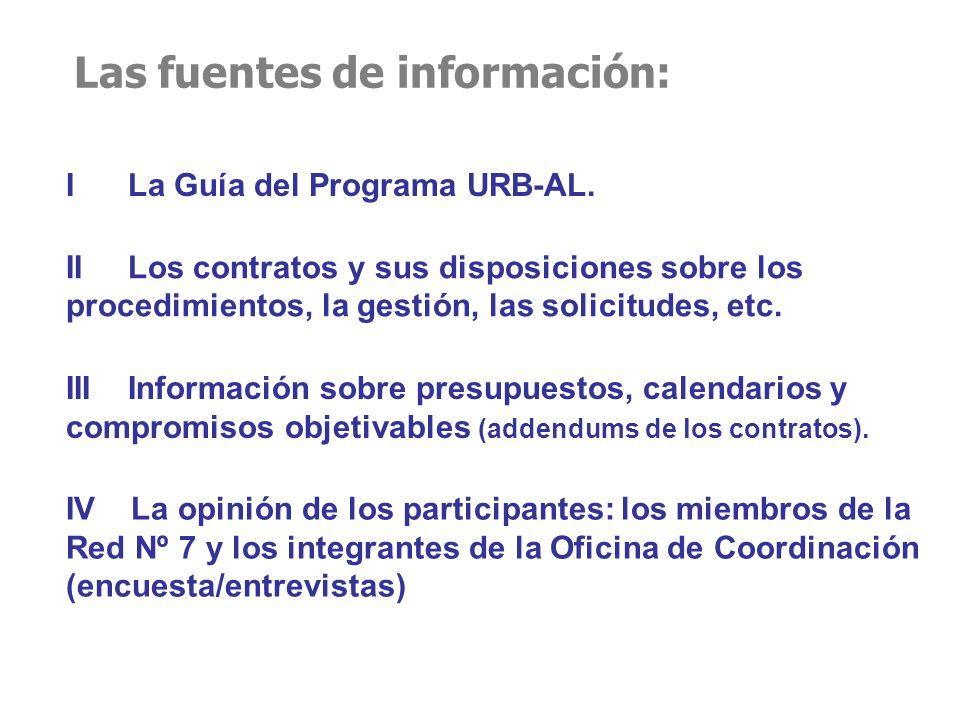 Las fuentes de información: I La Guía del Programa URB-AL.
