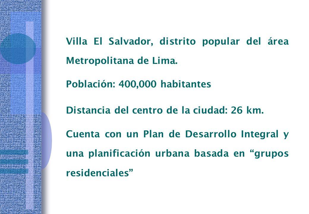 Entre el Gobierno Local, las Organizaciones representativas y las ONG´s peruanas y extranjeras.