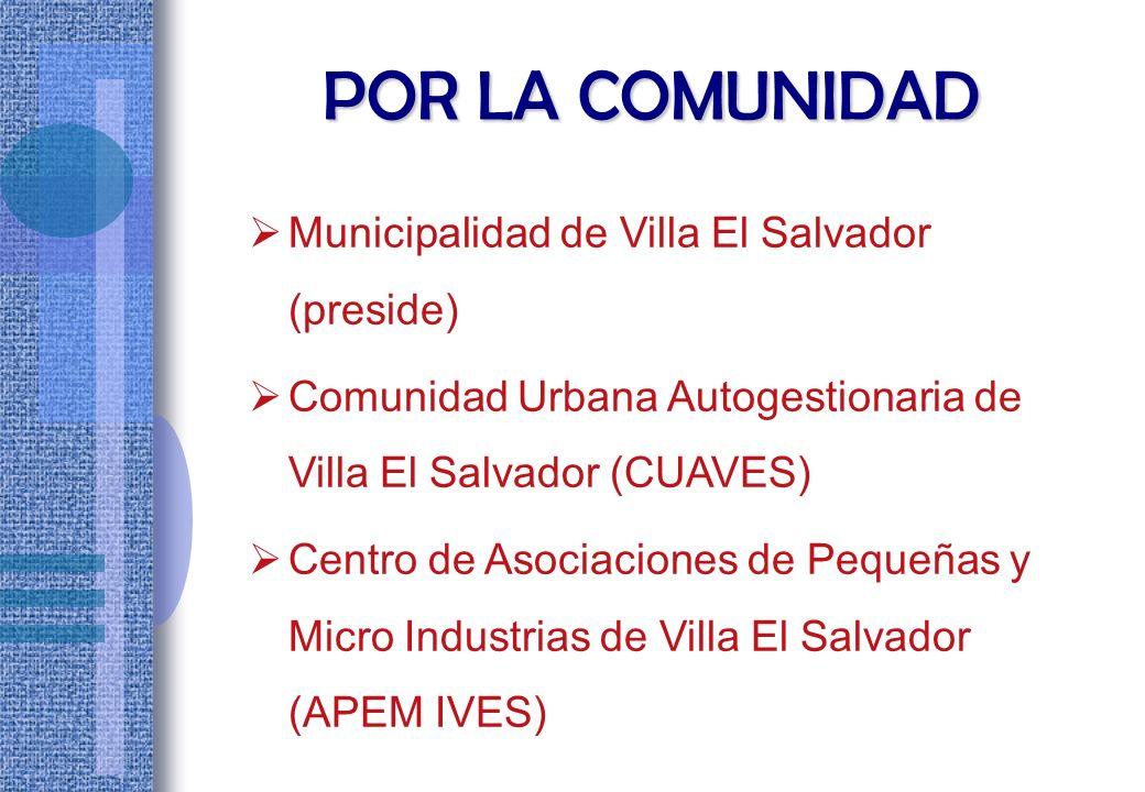 I N T E G R A N T ES 3 Representantes de la Comunidad 3 Representantes del Estado La Autoridad Autónoma estuvo integrado por: