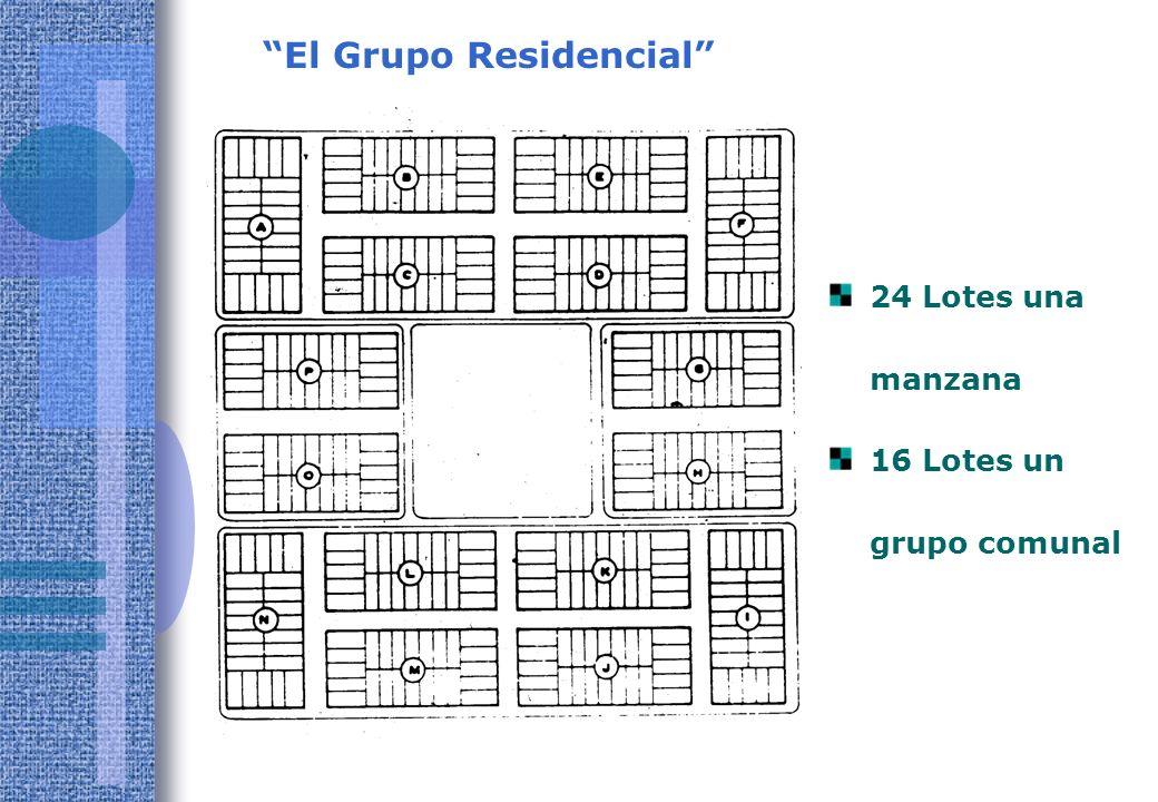 El Grupo Residencial 24 Lotes una manzana 16 Lotes un grupo comunal