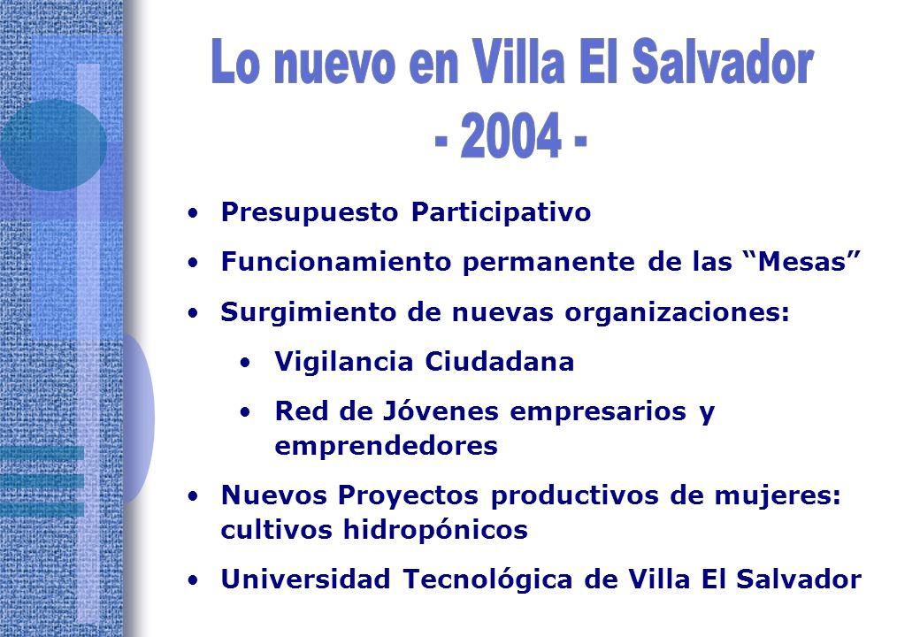 Obj. N° 1 Solidaria, Líder, Creativa, Organizada Y planificada Coordinación Territorial - Comités de gestión Plan Integral de Desarrollo de Villa El S