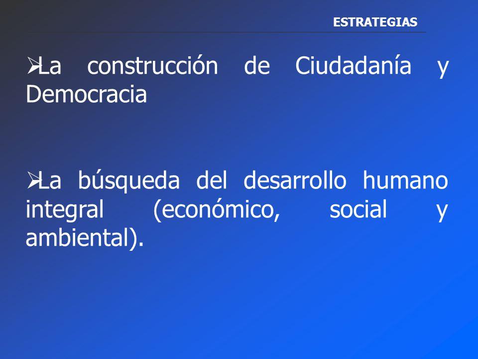 El Gobierno Local de Cuenca ha creado condiciones que han cambiado la forma de entender y hacer la gestión Municipal, pero también los procesos sociales de participación Se pretende ser una Ciudad, Equitativa, Justa, Solidaria y Competitiva, es decir una ciudad para que la gente viva mejor basada en: ESTRATEGIAS