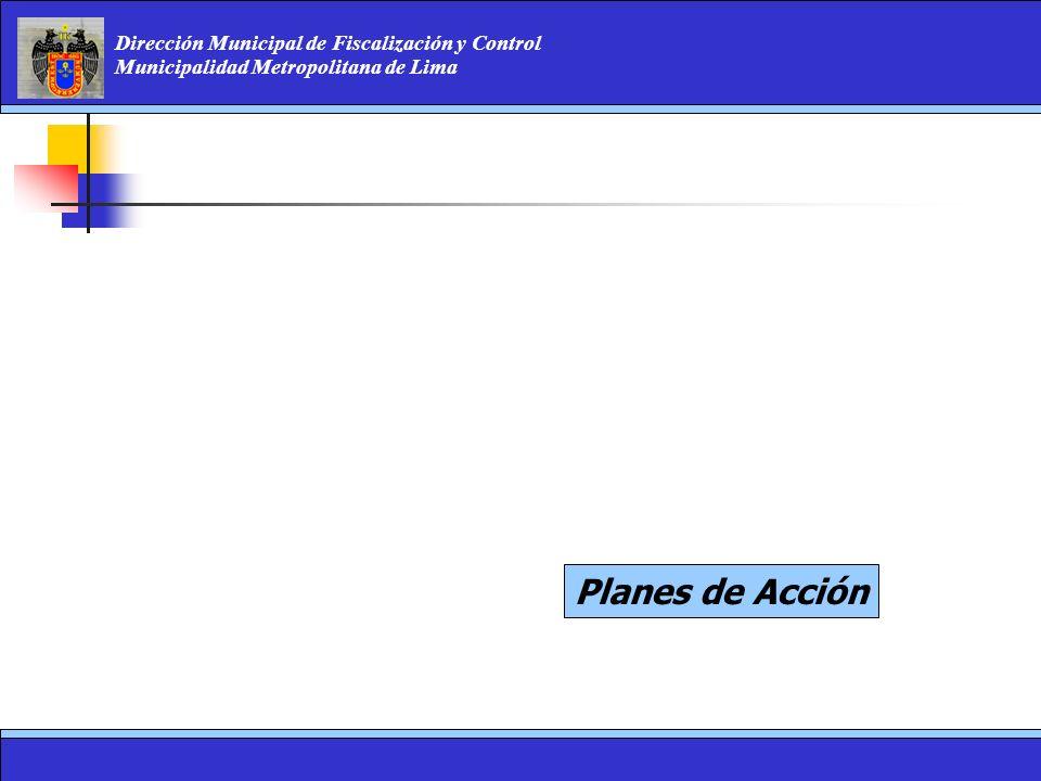 Dirección Municipal de Fiscalización y Control Municipalidad Metropolitana de Lima Planes de Acción