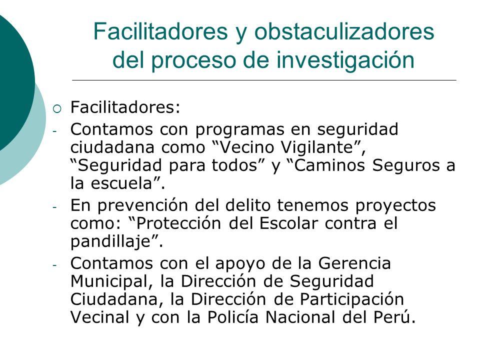 Metodología del Proceso de Investigación Recopilación información: - Tenemos información de la Dirección de Seguridad Ciudadana.