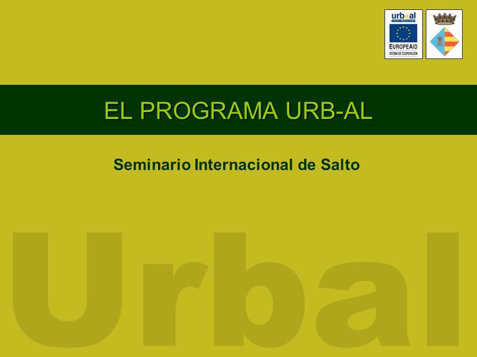 EL PROGRAMA URB-AL Seminario Internacional de Salto