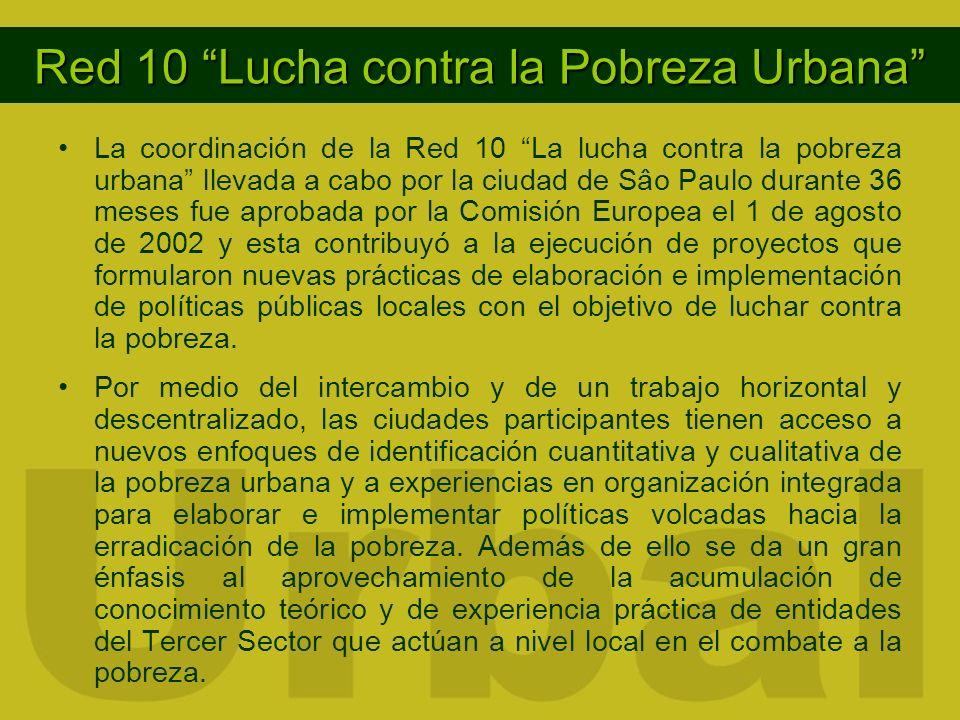 Red 10 Lucha contra la Pobreza Urbana La coordinación de la Red 10 La lucha contra la pobreza urbana llevada a cabo por la ciudad de Sâo Paulo durante