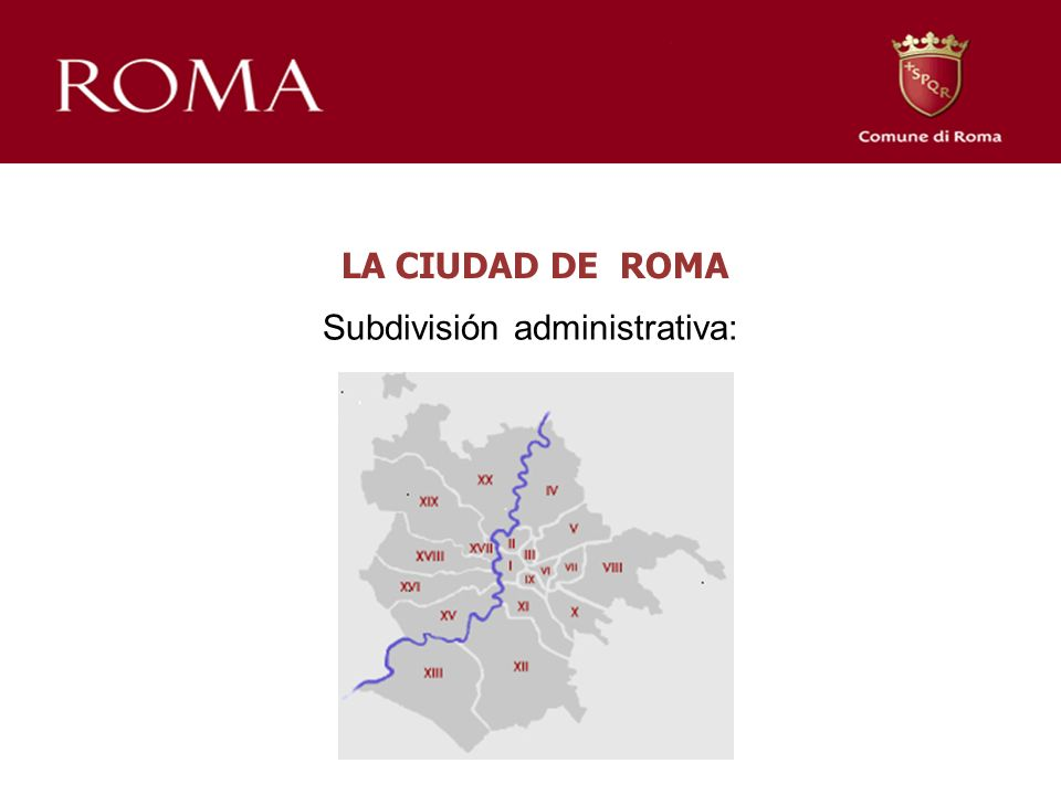 LA CIUDAD DE ROMA Subdivisión administrativa:
