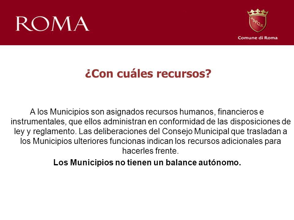 ¿Con cuáles recursos? A los Municipios son asignados recursos humanos, financieros e instrumentales, que ellos administran en conformidad de las dispo