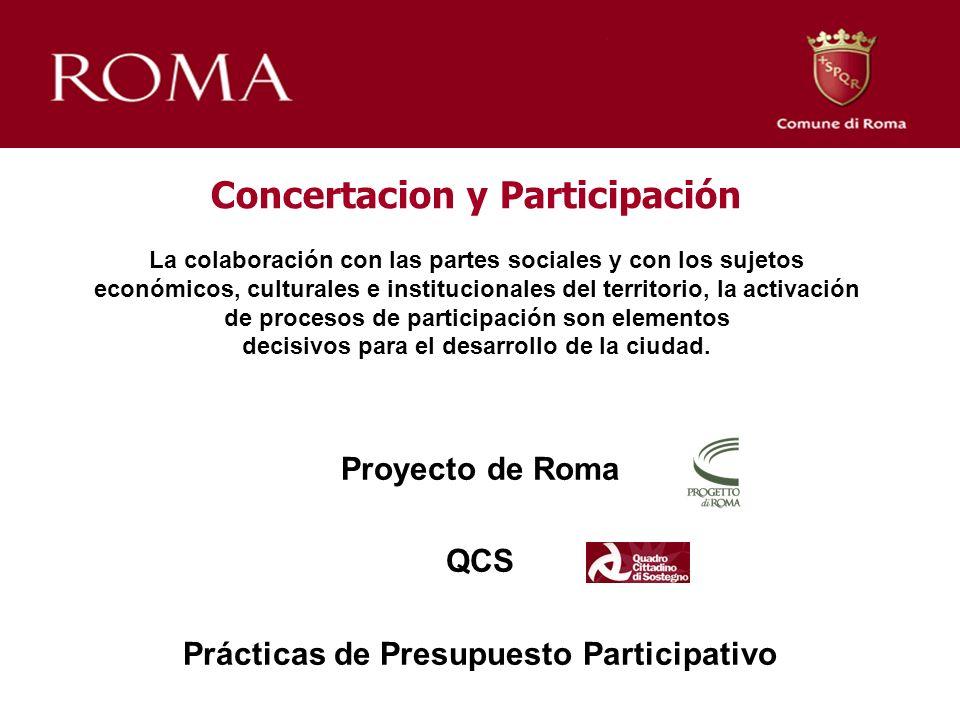 Concertacion y Participación La colaboración con las partes sociales y con los sujetos económicos, culturales e institucionales del territorio, la act