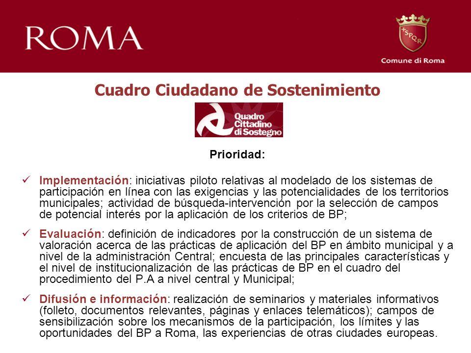 Prioridad: Implementación: iniciativas piloto relativas al modelado de los sistemas de participación en línea con las exigencias y las potencialidades