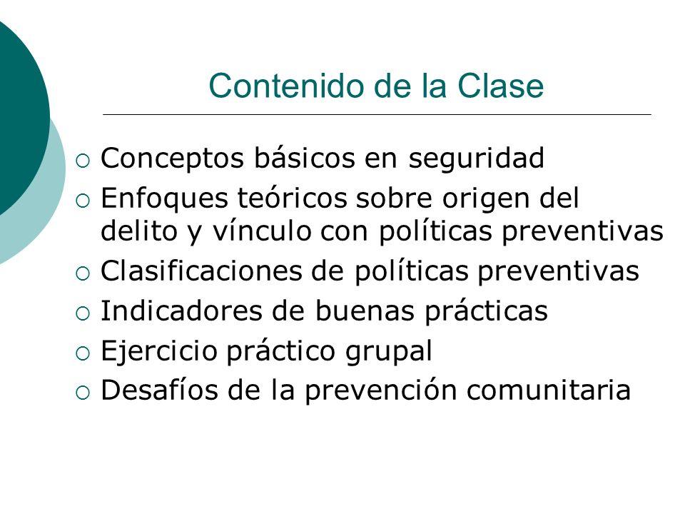 Clasificaciones de políticas preventivas Según objeto (epidemiológica): Primaria, secundaria, terciaria.