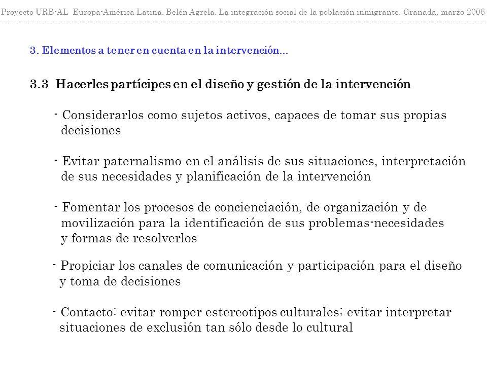 Proyecto URB-AL Europa-América Latina. Belén Agrela.