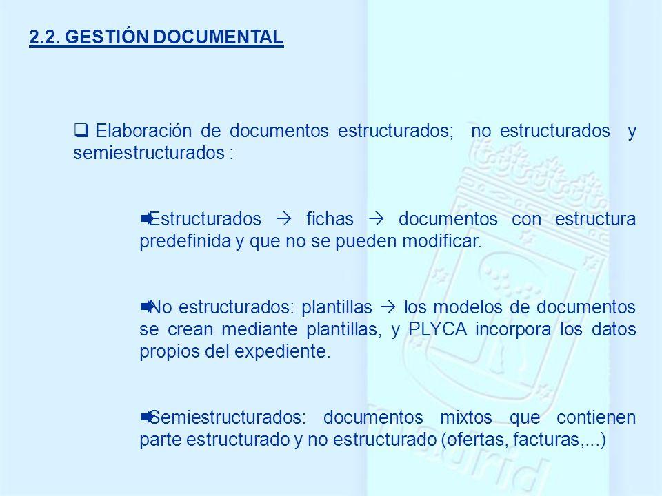Elaboración de documentos estructurados; no estructurados y semiestructurados : Estructurados fichas documentos con estructura predefinida y que no se