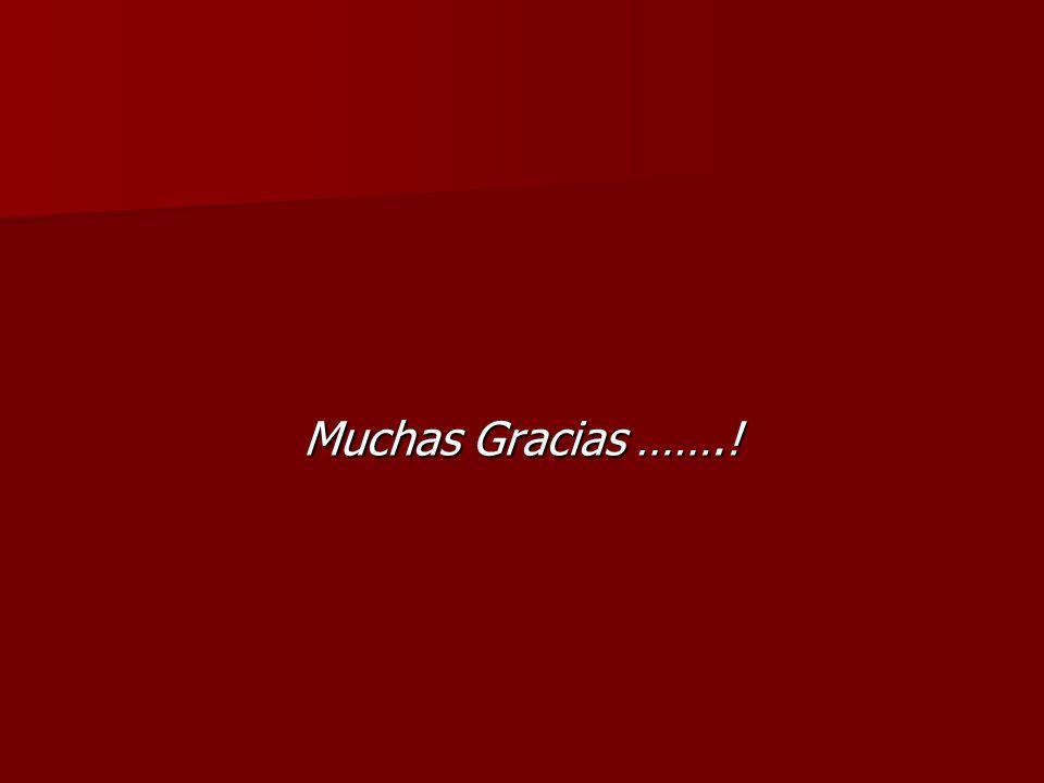Muchas Gracias …….!