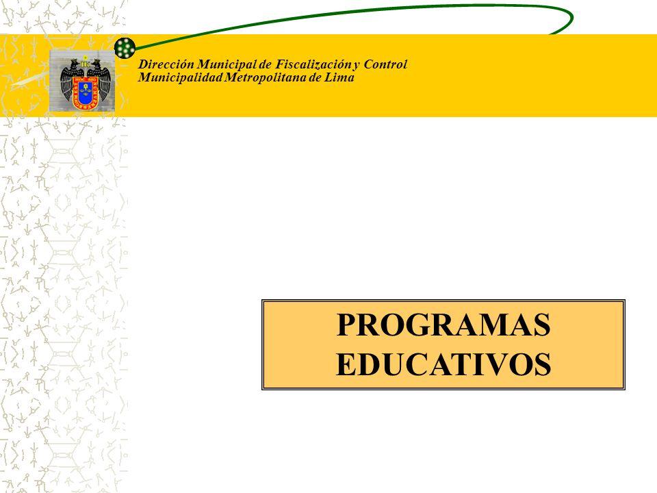 Dirección Municipal de Fiscalización y Control Municipalidad Metropolitana de Lima Para el caso del ruido, en todas las capacitaciones se efectúan practicas de campo.