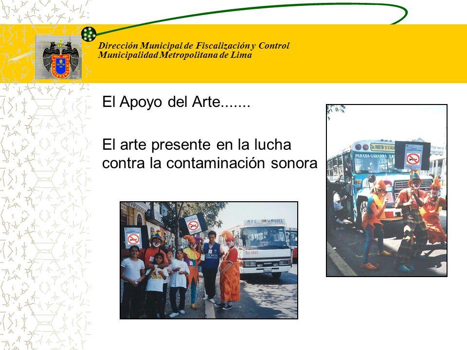 Dirección Municipal de Fiscalización y Control Municipalidad Metropolitana de Lima El arte presente en la lucha contra la contaminación sonora El Apoy