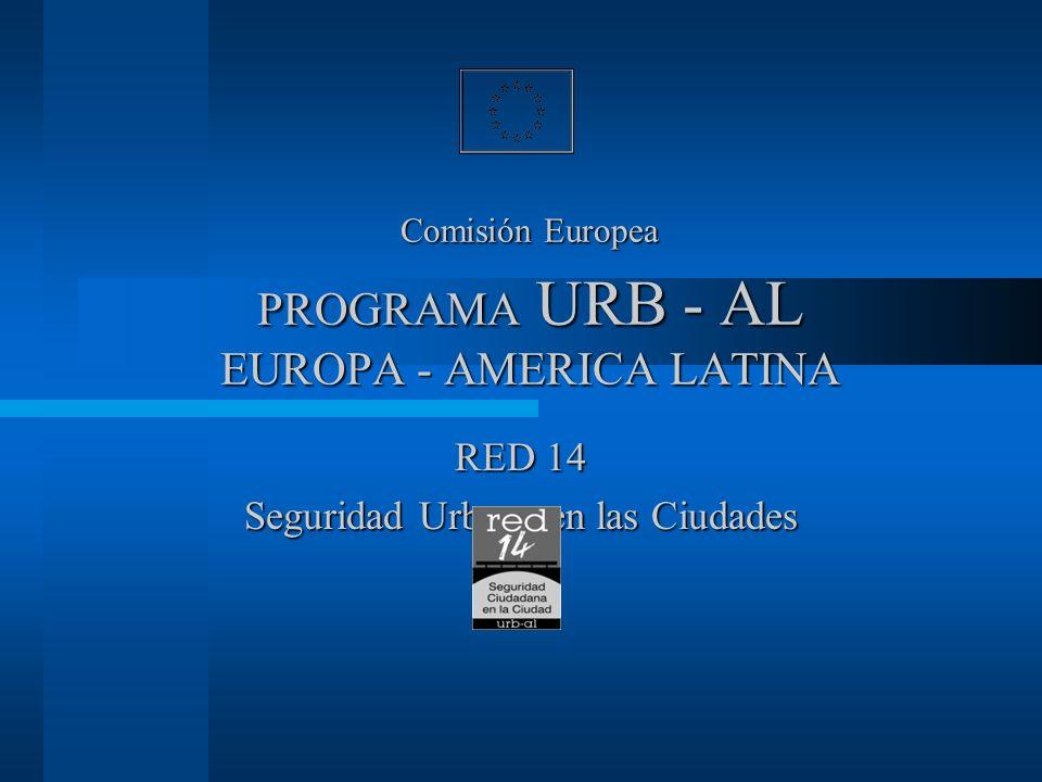 Comisión Europea PROGRAMA URB - AL EUROPA - AMERICA LATINA RED 14 Seguridad Urbana en las Ciudades
