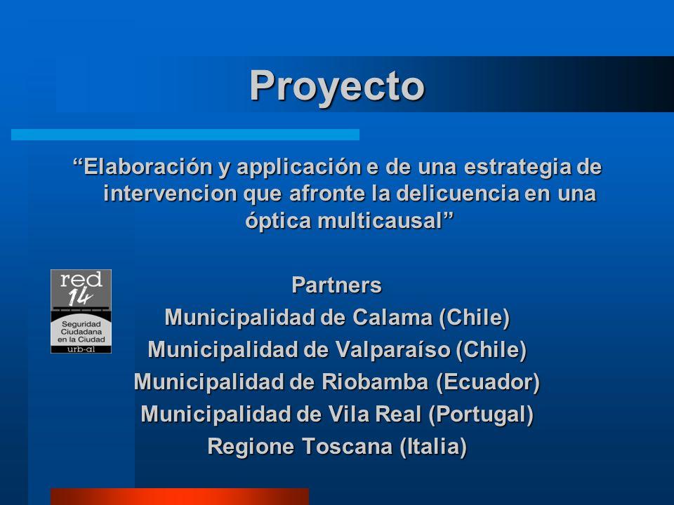Proyecto Elaboración y applicación e de una estrategia de intervencion que afronte la delicuencia en una óptica multicausal Partners Municipalidad de