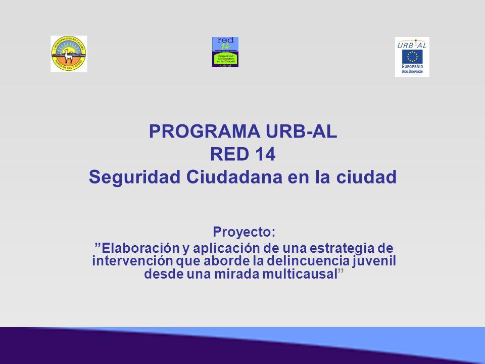 Proyecto: Elaboración y aplicación de una estrategia de intervención que aborde la delincuencia juvenil desde una mirada multicausal PROGRAMA URB-AL R