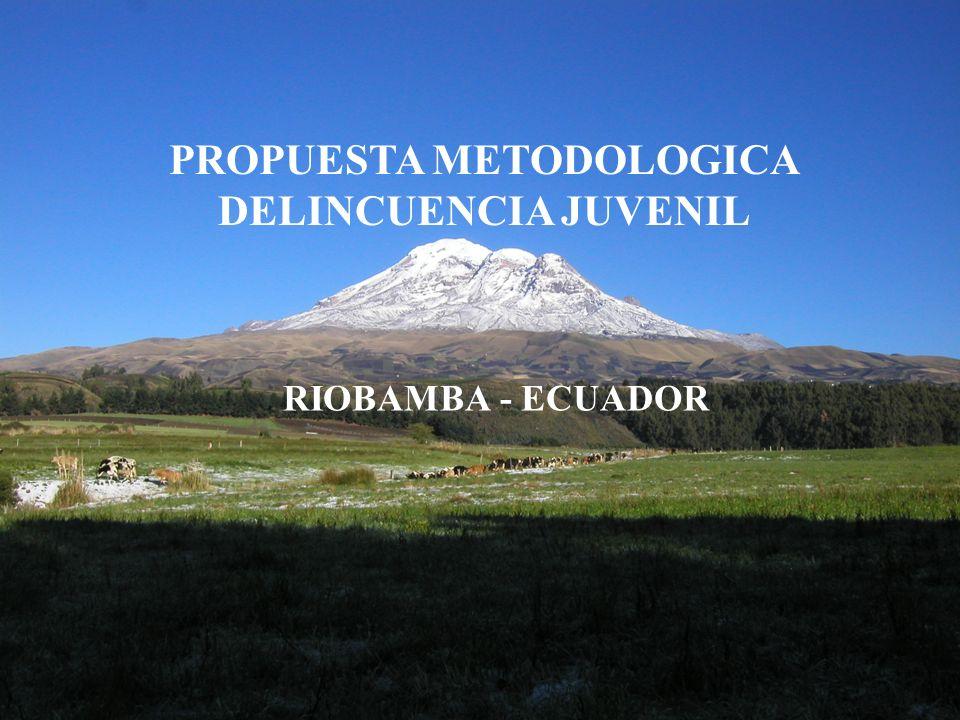PROPUESTA METODOLOGICA DELINCUENCIA JUVENIL RIOBAMBA - ECUADOR