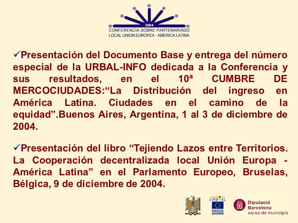 Presentación del libro Tejiendo Lazos entre Territorios. La Cooperación decentralizada local Unión Europa - América Latina en el Parlamento Europeo, B