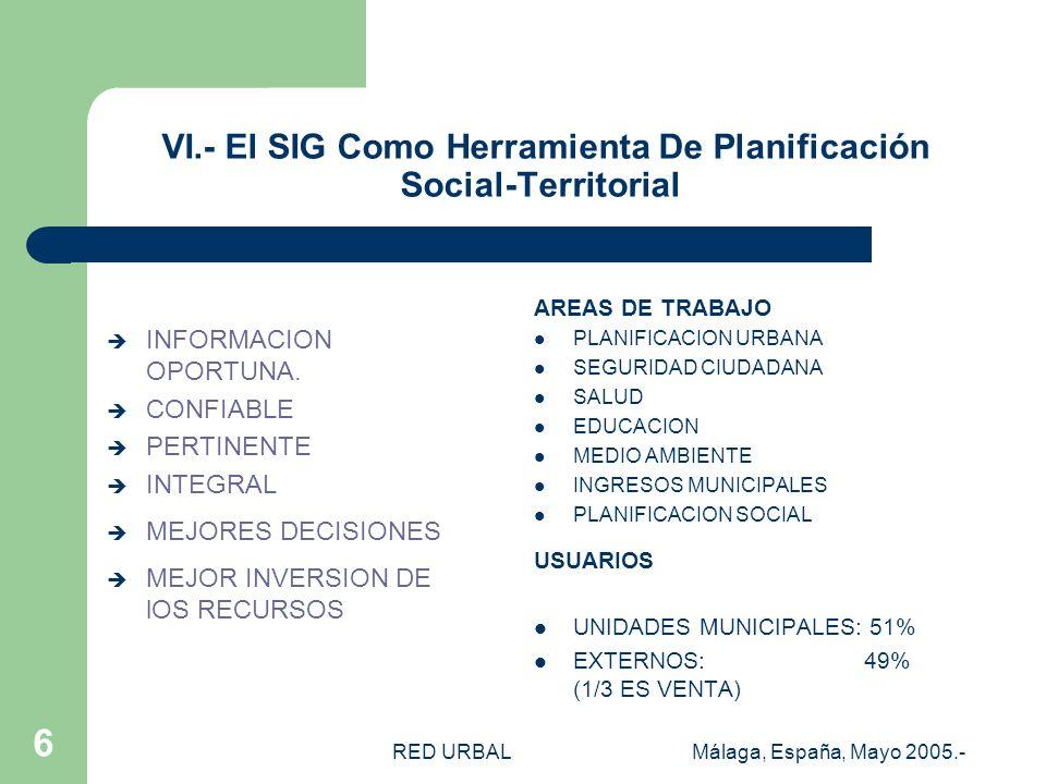 RED URBALMálaga, España, Mayo 2005.- 5 V.- POLÍTICA SOCIAL MUNICIPAL (Plan de Desarrollo Comunal- PLADECO) MISION MUNICIPAL EL BOSQUE, COMUNA QUE BUSC