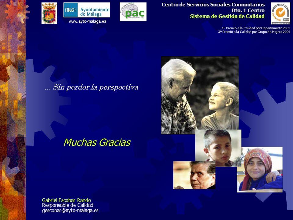 Centro de Servicios Sociales Comunitarios Dto. 1 Centro Sistema de Gestión de Calidad 1º Premio a la Calidad por Departamento 2003 3º Premio a la Cali