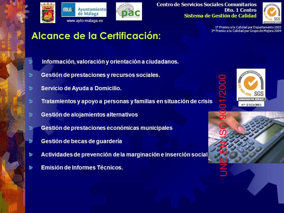 Política de Calidad del Centro Referencias Cruzadas con Norma UNE EN ISO 9001/2000 Definición Sistema Documental y Organización Centro Medición, Análi