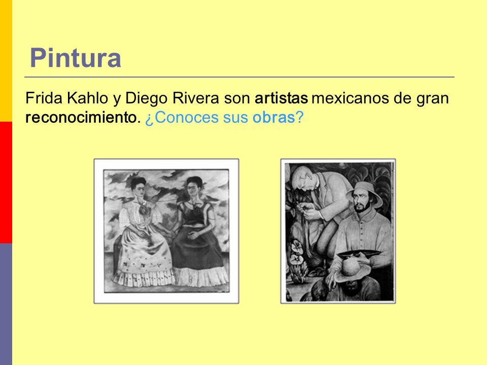 Pintura Frida Kahlo y Diego Rivera son artistas mexicanos de gran reconocimiento.