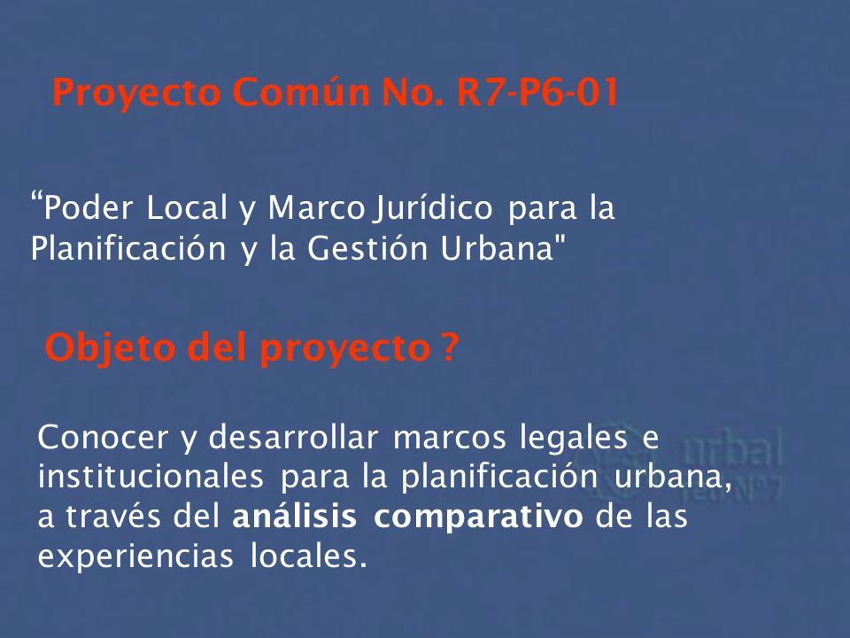 Poder Local y Marco Jurídico para la Planificación y la Gestión Urbana