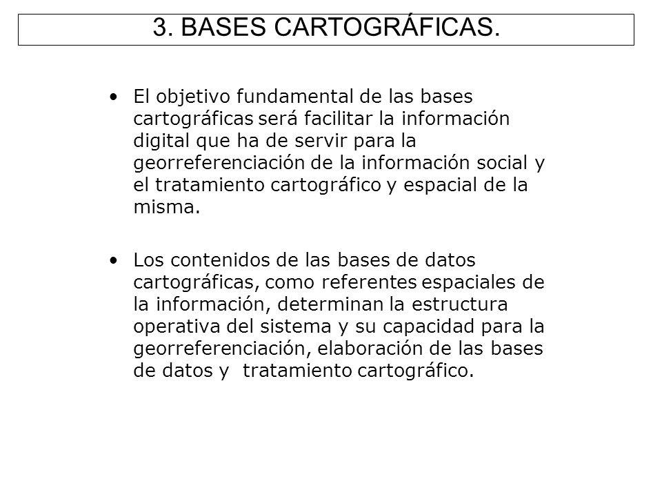 El objetivo fundamental de las bases cartográficas será facilitar la información digital que ha de servir para la georreferenciación de la información