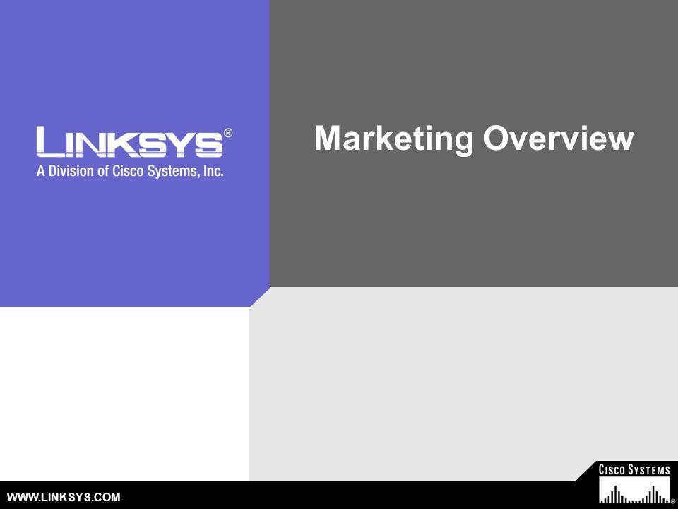 WWW.LINKSYS.COM Marketing Overview