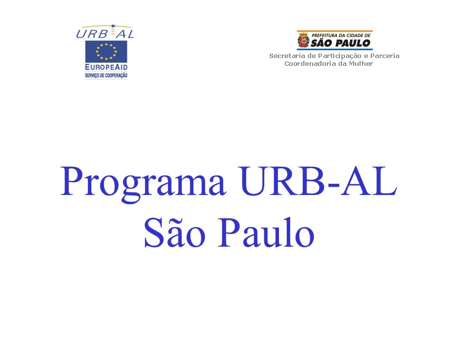 Programa URB-AL São Paulo