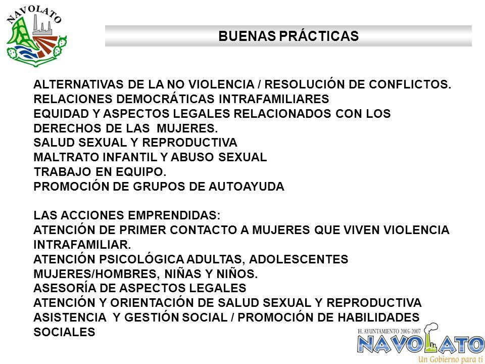 ALTERNATIVAS DE LA NO VIOLENCIA / RESOLUCIÓN DE CONFLICTOS.