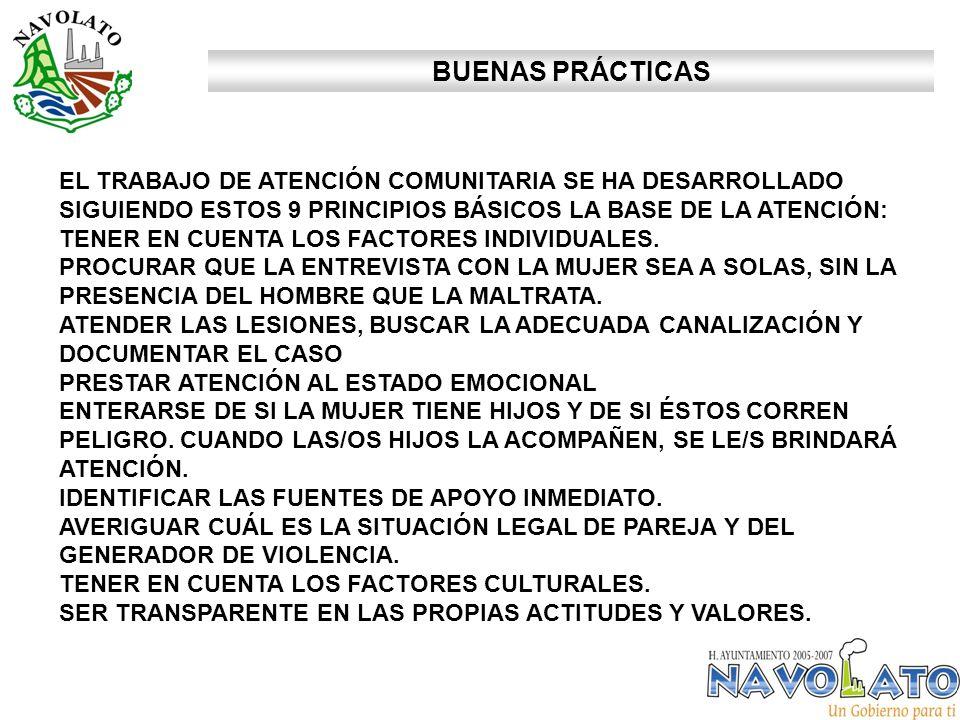 BUENAS PRÁCTICAS EL TRABAJO DE ATENCIÓN COMUNITARIA SE HA DESARROLLADO SIGUIENDO ESTOS 9 PRINCIPIOS BÁSICOS LA BASE DE LA ATENCIÓN: TENER EN CUENTA LOS FACTORES INDIVIDUALES.