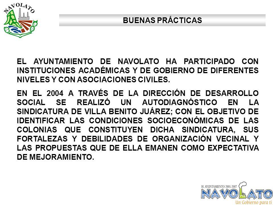 EL AYUNTAMIENTO DE NAVOLATO HA PARTICIPADO CON INSTITUCIONES ACADÉMICAS Y DE GOBIERNO DE DIFERENTES NIVELES Y CON ASOCIACIONES CIVILES.