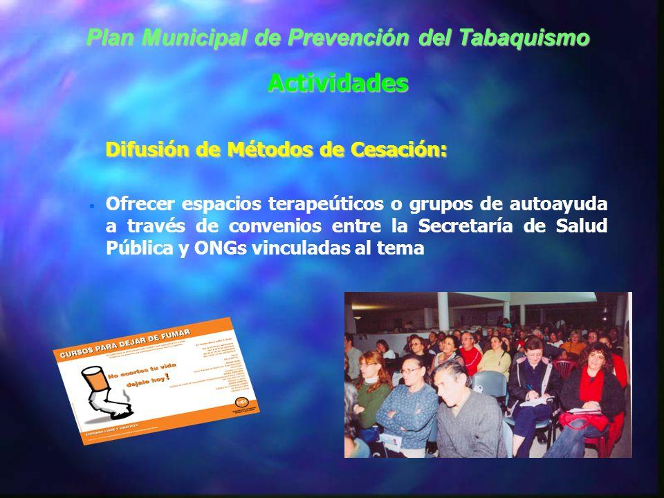 Ordenanzas vigentes Ordenanza 5476/92 prohibición de fumar en oficinas y dependencias de la Municipalidad de Rosario y del Concejo Municipal (empleado