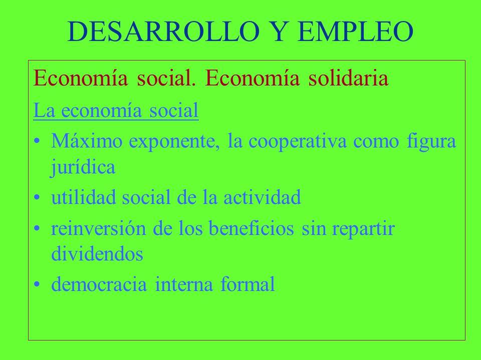 DESARROLLO Y EMPLEO Economía social.