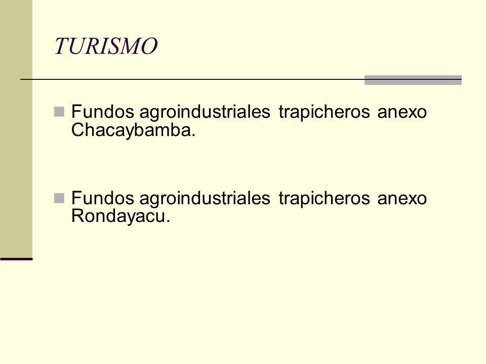 TURISMO Fundos agroindustriales trapicheros anexo Chacaybamba. Fundos agroindustriales trapicheros anexo Rondayacu.
