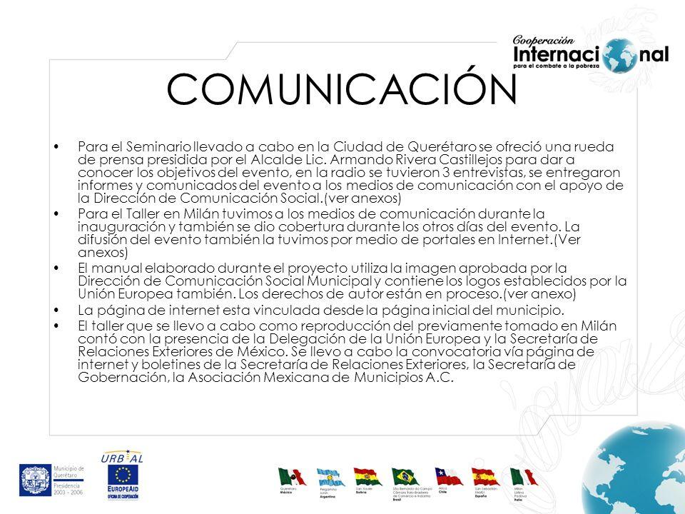 Para el Seminario llevado a cabo en la Ciudad de Querétaro se ofreció una rueda de prensa presidida por el Alcalde Lic.