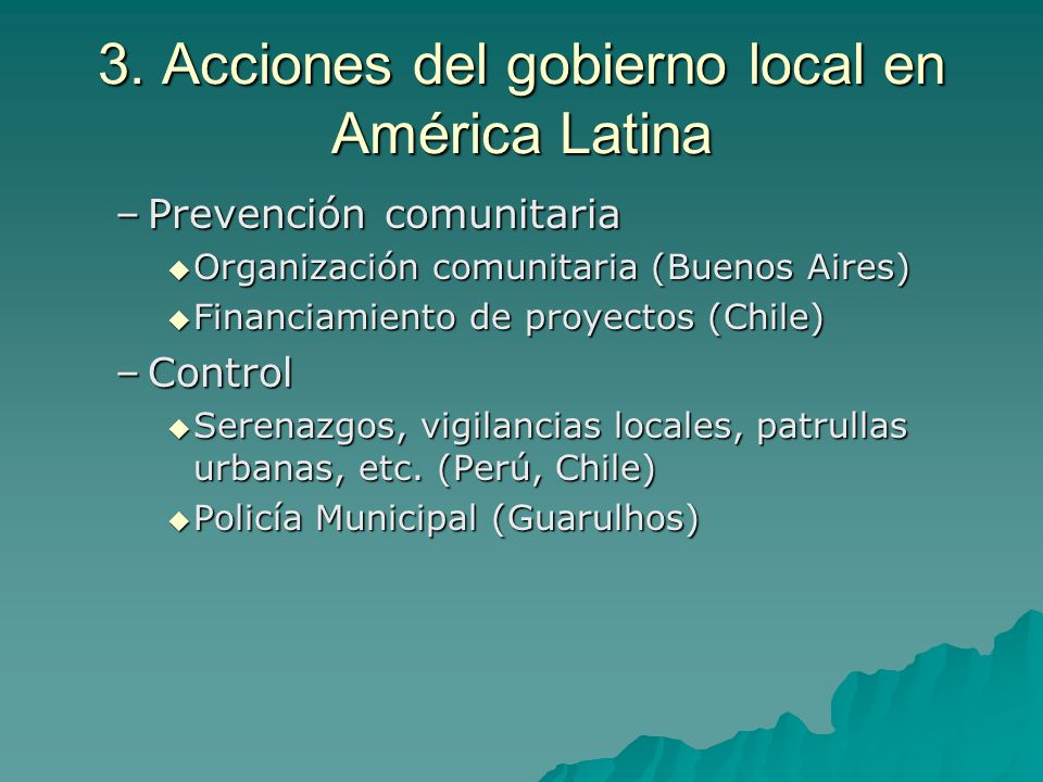 4.Como se gobierna la seguridad a nivel local.