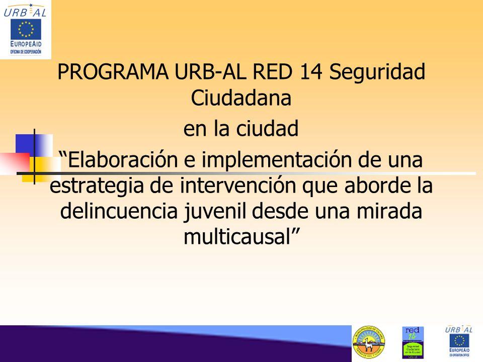 PROGRAMA URB-AL RED 14 Seguridad Ciudadana en la ciudad Elaboración e implementación de una estrategia de intervención que aborde la delincuencia juve