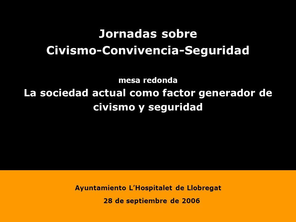 Jornadas sobre Civismo-Convivencia-Seguridad mesa redonda La sociedad actual como factor generador de civismo y seguridad Ayuntamiento LHospitalet de Llobregat 28 de septiembre de 2006