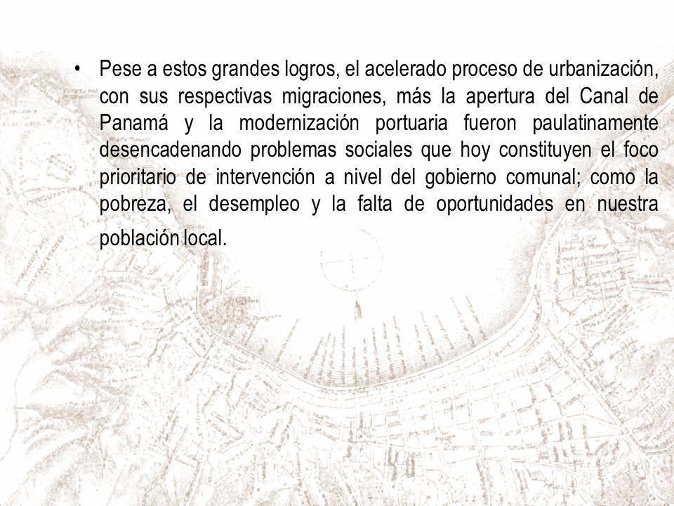 El año 2003 Valparaíso pasa a formar parte de la Lista de Patrimonio Mundial de la UNESCO, Valparaíso es un testimonio excepcional de la fase temprana de globalización de avanzado el siglo XIX, cuando además se convirtió en el puerto comercial líder de las rutas navieras de la costa del Pacífico de Sudamérica.