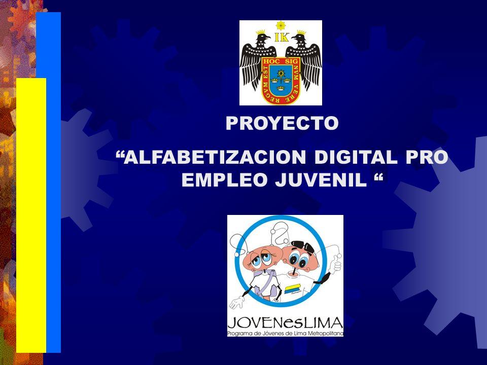 PROYECTO ALFABETIZACION DIGITAL PRO EMPLEO JUVENIL