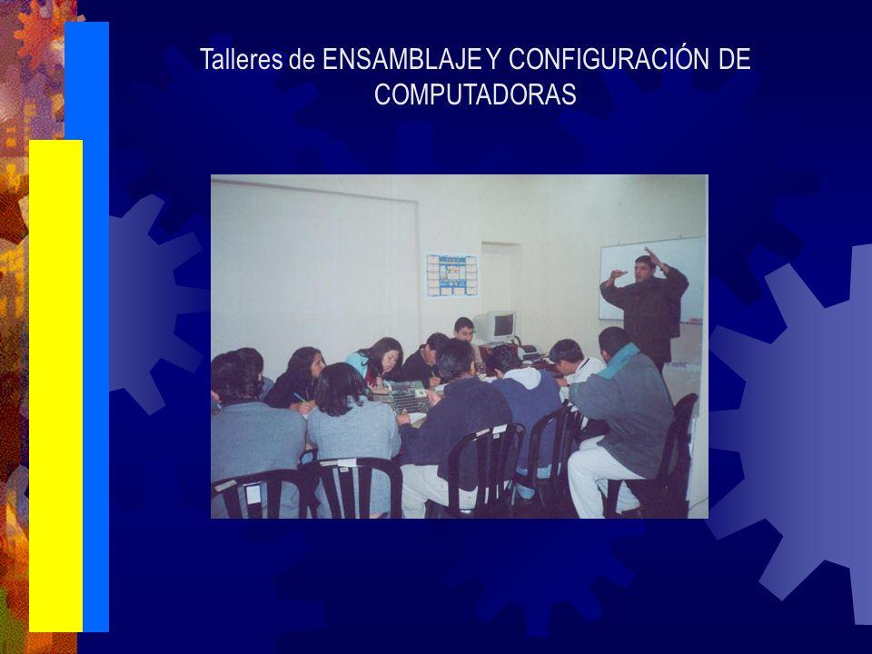 Talleres de ENSAMBLAJE Y CONFIGURACIÓN DE COMPUTADORAS