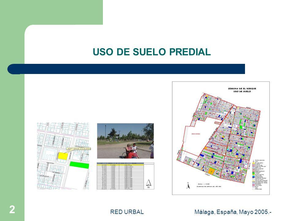 RED URBALMálaga, España, Mayo 2005.- 1 SEGURIDAD CIUDADANA SUBSECTOR: PARTICIPACION CIUDADANA Y COMUNA SEGURA GEOREFERENCIACION FONO-DENUNCIA (AÑO 200
