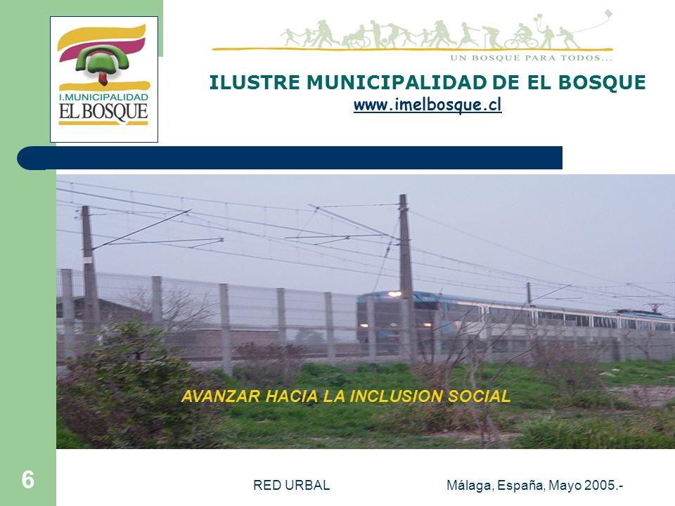 RED URBALMálaga, España, Mayo 2005.- 5 PROPUESTA METODOLOGICA RUT : Rol Unico Tributario. Corresponde a la cédula de identidad. En Chile se asigna al